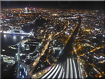 TQ3379 : View from The Shard at night by Marathon