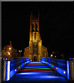 SK3536 : Saint Alkmund's Way Footbridge and St Mary's Church by Andy Stephenson
