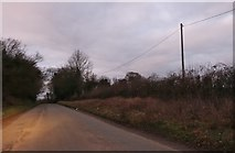 ST8971 : Lane towards The Chequers on the A4 by David Howard