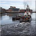 J3474 : Tug 'Goliath' and barge, Belfast by Rossographer