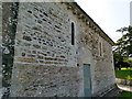 SZ0382 : North wall of the church of St Nicholas, Studland by Phil Champion