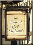 TA1439 : Sign for the Duke of York, Skirlaugh by JThomas