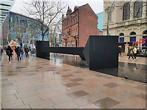 ST1876 : Sculpture in The Hayes, Cardiff by Colin Cheesman