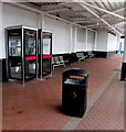 ST2995 : Two BT phoneboxes in Cwmbran bus station by Jaggery
