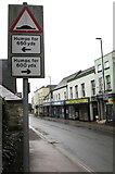 SO6302 : Warning sign - humps, High Street, Lydney by Jaggery
