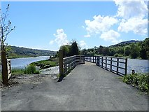 J0923 : Northern approach to the Greenway bridge over the Newry Canal overspill by Eric Jones