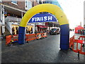 SJ4066 : Start/Finish line for the Great Santa Dash, Chester (2) by David Hillas