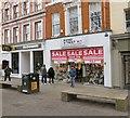 SJ8398 : McDonald's and Bond Street Shoe Company by Gerald England