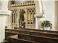 SP1523 : St Peter, Upper Slaughter - Screen north chapel by John Salmon