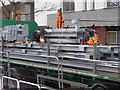 SO8754 : Worcestershire Royal Hospital - unloading structural steelwork by Chris Allen