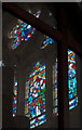 SS4919 : A stained glass window in the church of St Michael & All Angels, Torrington by Roger A Smith