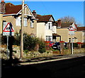 ST4888 : Warning signs, Church Road, Caldicot by Jaggery