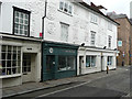 TL3212 : Pargetting over shop fronts, Fore Street, Hertford by Humphrey Bolton