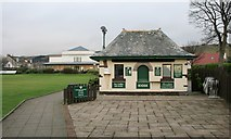NS2060 : Kiosk beside the putting green by Richard Sutcliffe