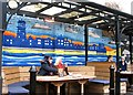 TG2308 : The Lamb Inn -  Adnams Brewery mural by Evelyn Simak
