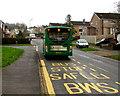 ST3090 : Number 18 bus ascending Rowan Way, Malpas, Newport by Jaggery