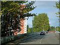 NS3975 : A814 crossing the River Leven at Artisan (Artizan) Bridge by David Dixon