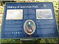 SJ4166 : Information Board at Grosvenor Park, Chester by David Hillas