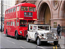 SJ8397 : Wedding Transport outside The Midland by David Dixon