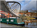 SJ8397 : Castlefield Basin, Merchant's Bridge by David Dixon