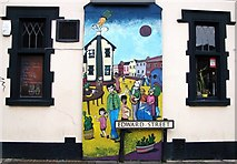 TG2309 : 102 Magdalen Street - Cactus Bar (mural) by Evelyn Simak