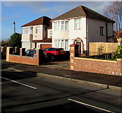 ST3487 : Houses at the eastern end of Liswerry Road, Alway, Newport by Jaggery