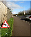 ST3487 : Warning sign - skid risk on the A48, Newport by Jaggery