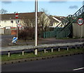ST3487 : 50 sign and 30 sign on the A48, Newport by Jaggery