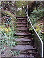 SH6265 : Stairs near Pont Twr, Bethesda by Meirion