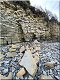 ST1868 : Rockfall at Lavernock Point  by Alan Hughes