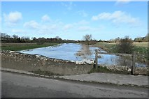 TQ5203 : The River Cuckmere in flood by Peter Jeffery