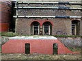 NZ4064 : Marsden Lime Kilns (detail) by Andrew Curtis