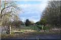 NZ3034 : Old railway route crossing road at Cornforth by Trevor Littlewood