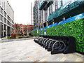 SE2933 : Cycle parking, Wellington Place by Stephen Craven