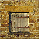 NY9539 : Old window at Broad Law (ground floor) by Mike Quinn
