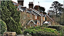 TQ2115 : Henfield, Sussex - houses on the Common by Ian Cunliffe