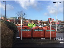 NT2774 : Glass recycling, Meadowbank by Richard Webb