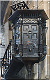 SK3871 : Pulpit, St Mary & All Saints' church, Chesterfield by Julian P Guffogg