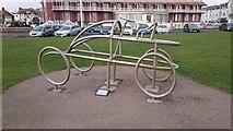 TQ7407 : Metal Sculpture on the Promenade by John P Reeves