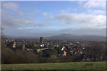 SO5074 : View of Ludlow from Whitcliffe Common. by Robert Eva