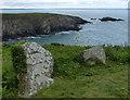 SM7524 : Stones along the Pembrokeshire Coast Path by Mat Fascione