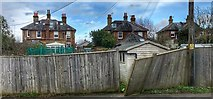TQ2115 : Henfield, Sussex - rear view of houses on Broomfield Road by Ian Cunliffe