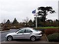 SP2662 : EU flag still flying by Stephen Craven