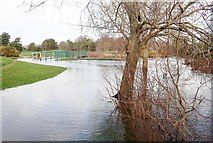 J3731 : Flooded path in Islands Park, Newcastle by Eric Jones