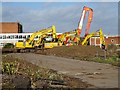 SO7844 : Demolition machinery by Philip Halling