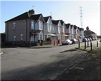 ST3186 : Mendalgief Road houses southeast of Milman Street, Newport by Jaggery