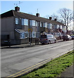 ST3186 : Mendalgief Road houses southeast of Lime Close, Newport by Jaggery
