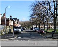 ST3186 : Jeddo Close towards Baldwin Close, Newport by Jaggery