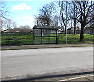 ST3186 : Mendalgief Road bus stop and shelter, Newport by Jaggery