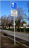 ST3186 : Priority over oncoming vehicles sign, Mendalgief Road, Newport by Jaggery